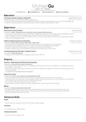 michael gu resume latex