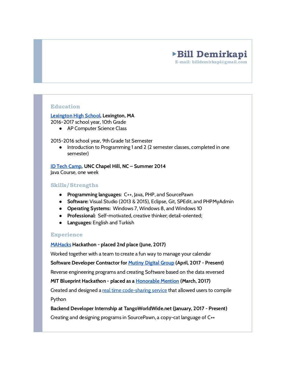 resume as pdf