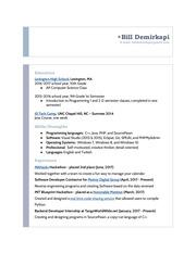 bd resume