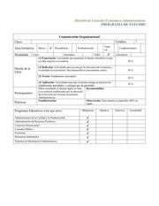 carta descriptiva de comunicaci n organizacional