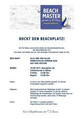 information und anmeldung beachmaster 2017