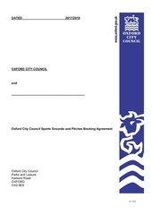 sports ground booking agreement 2017 18