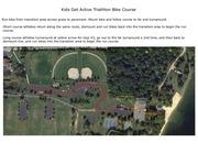 kids get active triathlon bike course
