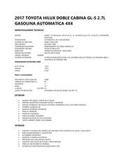 2017 toyota hilux dc gl s 2 7l gasolina ta 4x4 specs