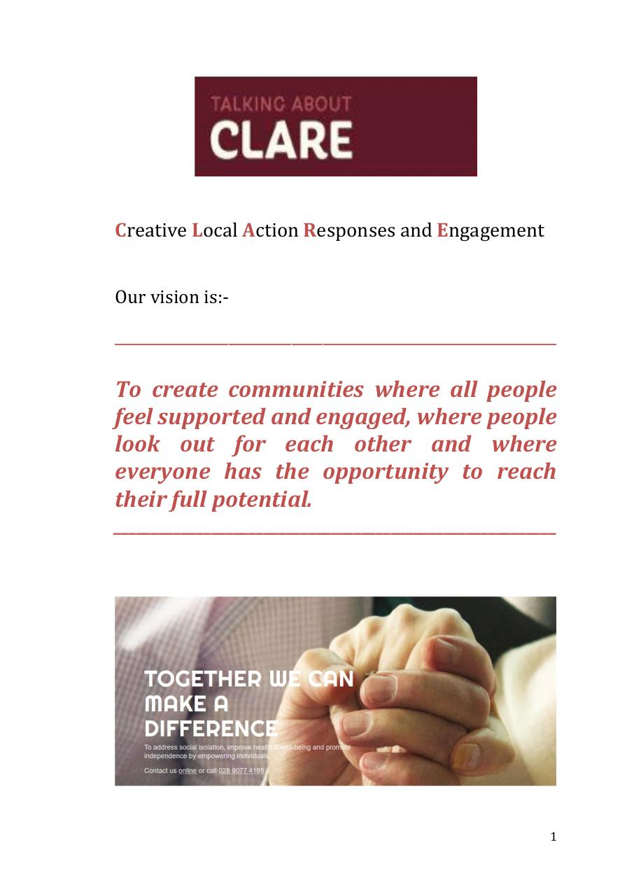 CLARE Community Consultation Report.pdf - page 2/47