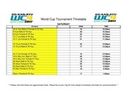 event listing times world cup 2017
