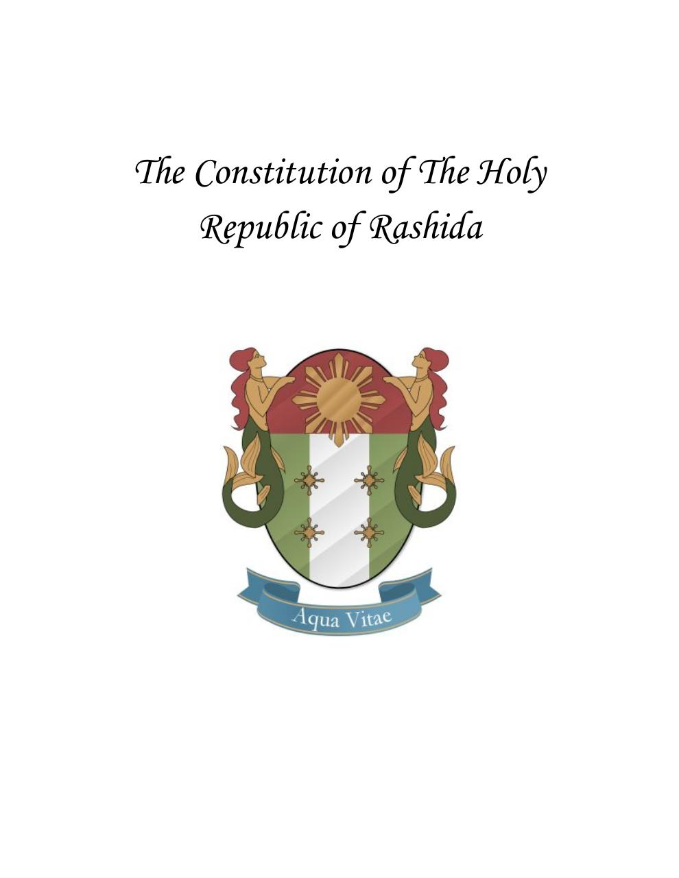 The Constitution of The Holy Republic of Rashida.pdf - page 1/7
