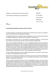 pressemitteilung r ckbau hochhaus pirnaischer platz
