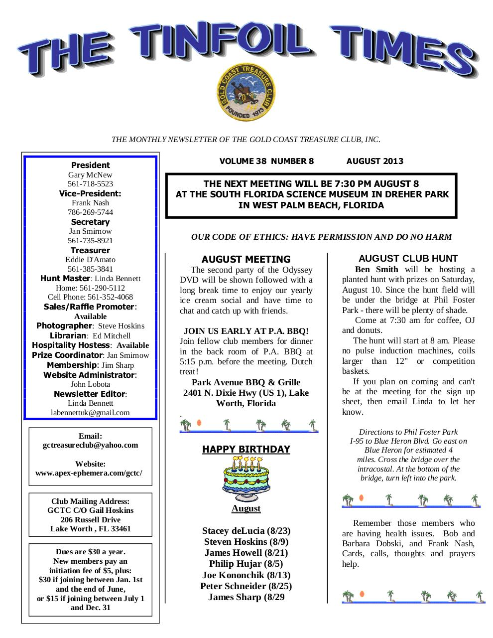 Preview of PDF document 2013-august.pdf - Page 1/9