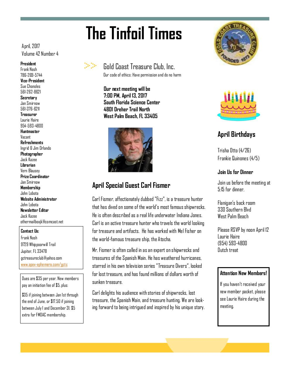 Preview of PDF document 2017-april-gctc-newsletter.pdf - Page 1/6