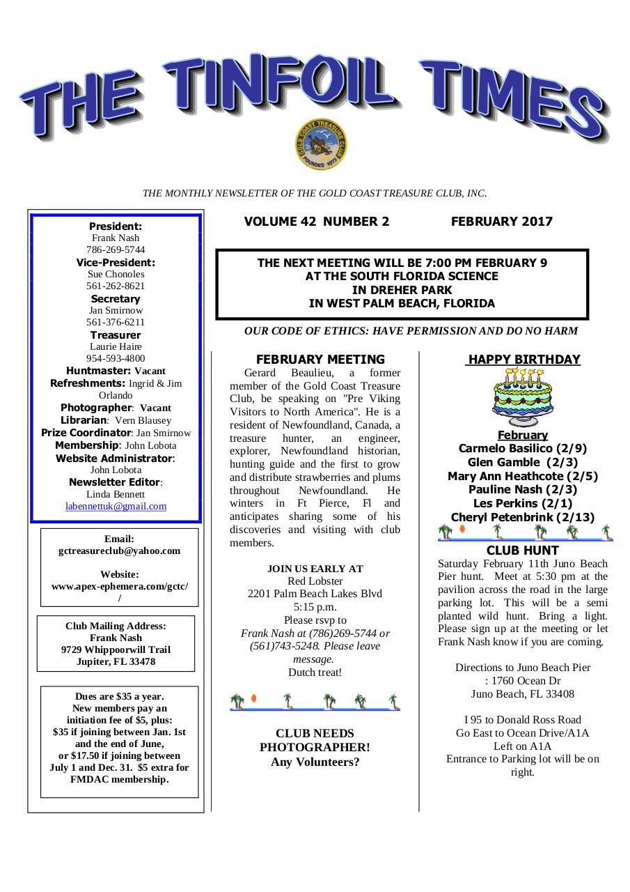 Preview of PDF document 2017-february-gctc-newsletter.pdf - Page 1/7