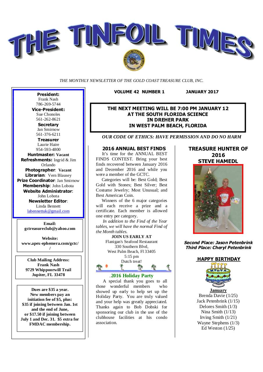 Preview of PDF document 2017-january-gctc-newsletter.pdf - Page 1/3