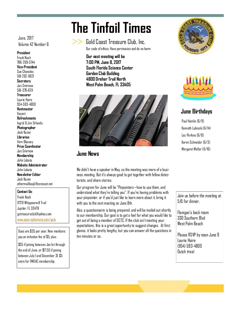 Preview of PDF document 2017-june-gctc-newsletter.pdf - Page 1/6