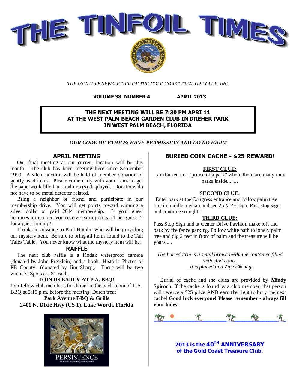 Preview of PDF document gctc-april-2013-newsletter.pdf - Page 1/10
