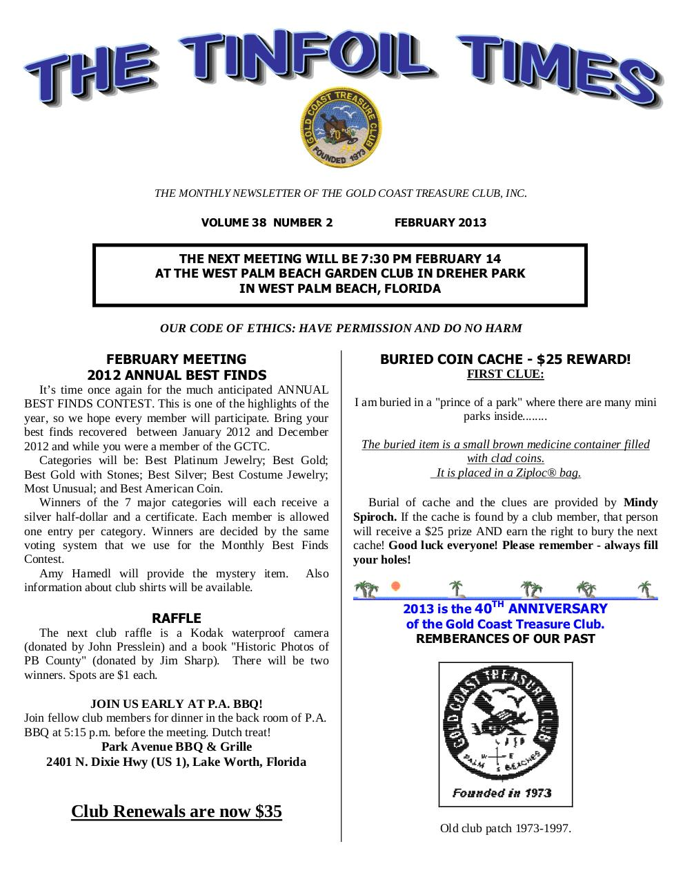 Preview of PDF document gctc-february-2013-newsletter.pdf - Page 1/6