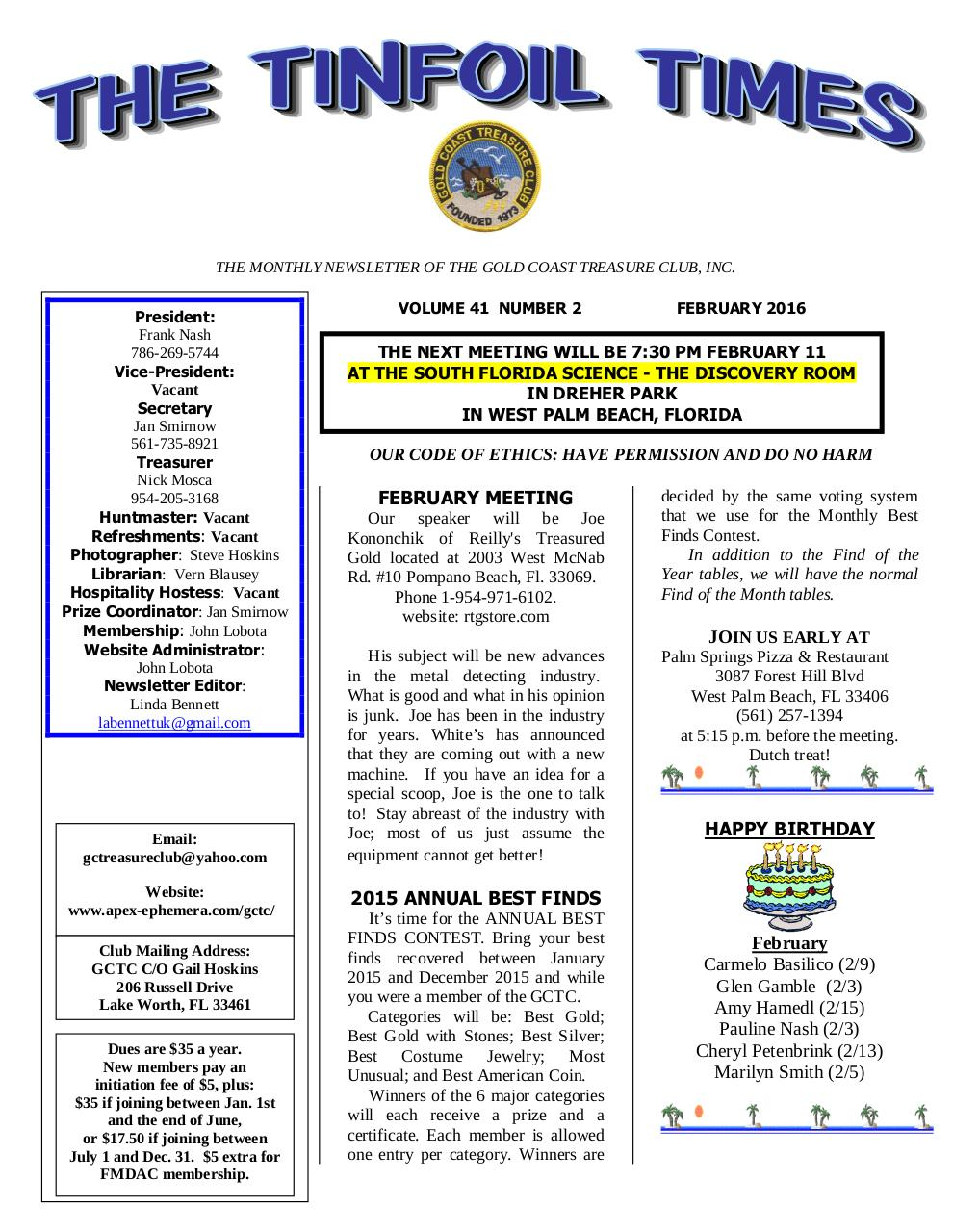 Preview of PDF document gctc-february-2016-newsletter.pdf - Page 1/6