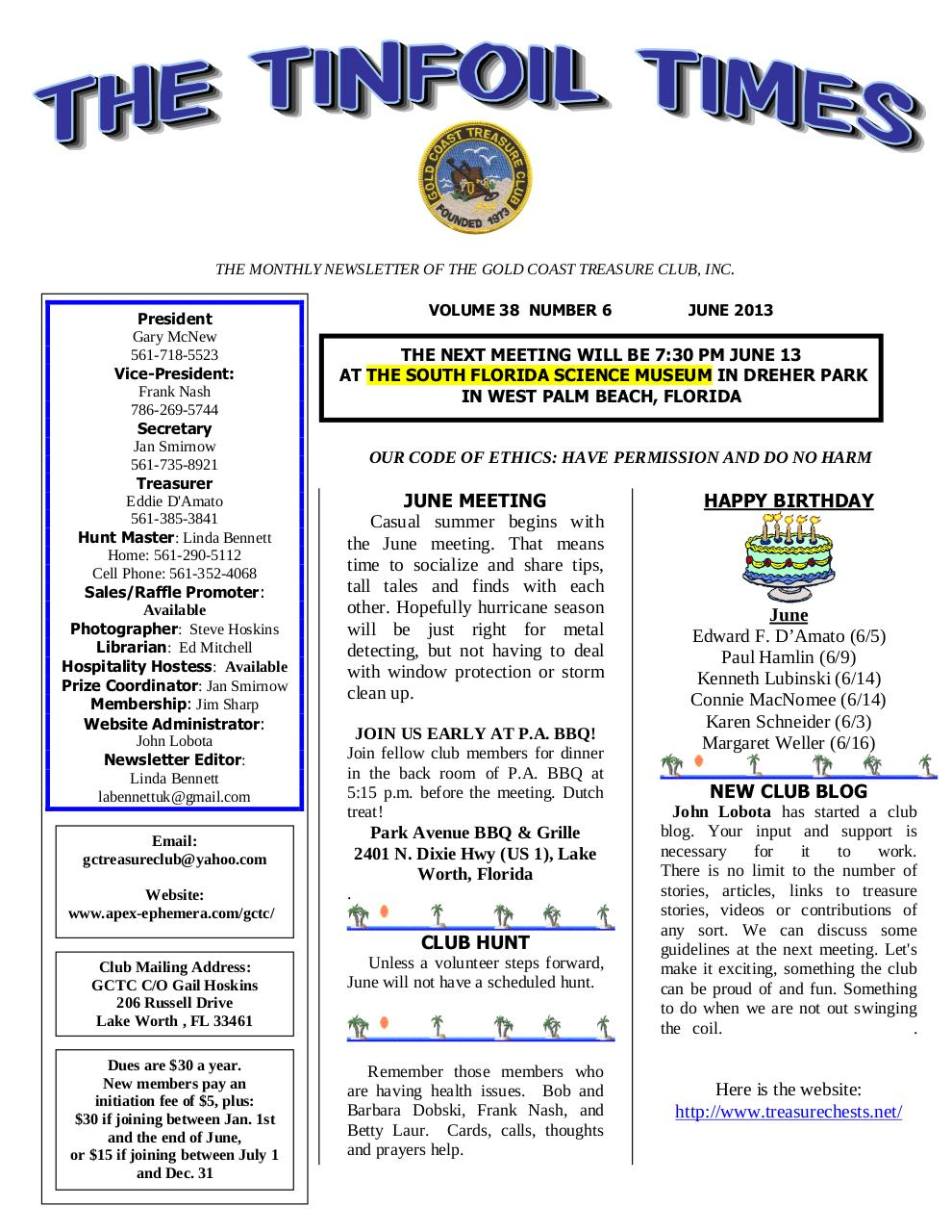 GCTC June 2013 Newsletter.pdf - page 1/5