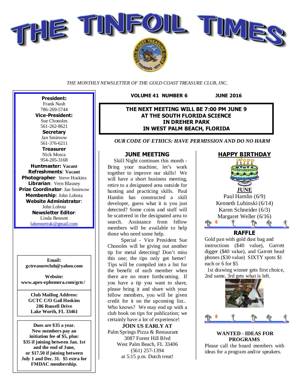 Preview of PDF document gctc-june-2016-newsletter.pdf - Page 1/4