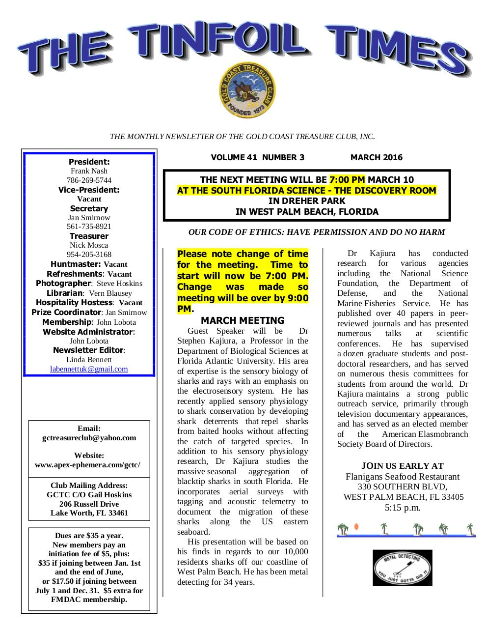 Preview of PDF document gctc-march-2016-newsletter.pdf - Page 1/8