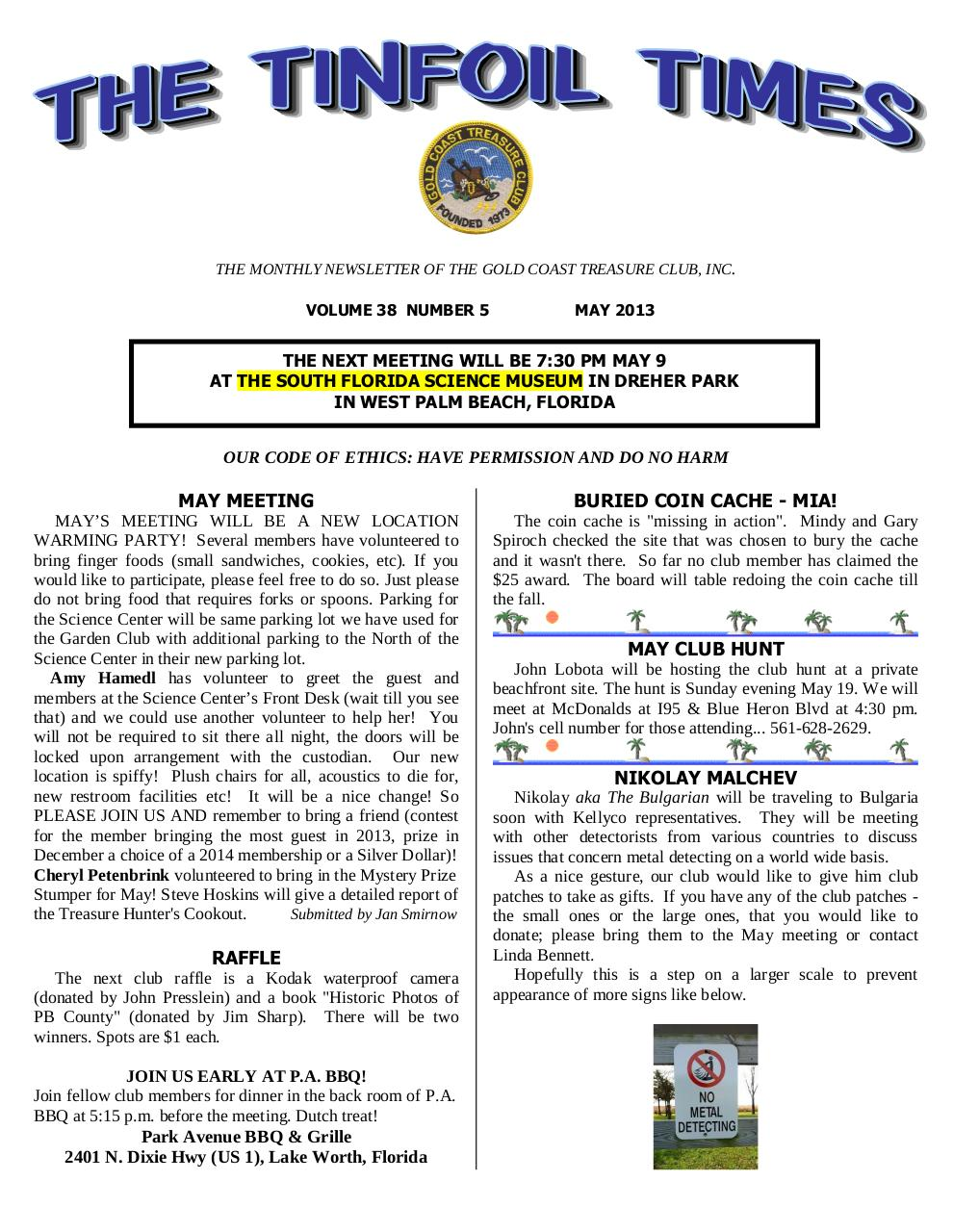 Preview of PDF document gctc-may-2013-newsletter.pdf - Page 1/6