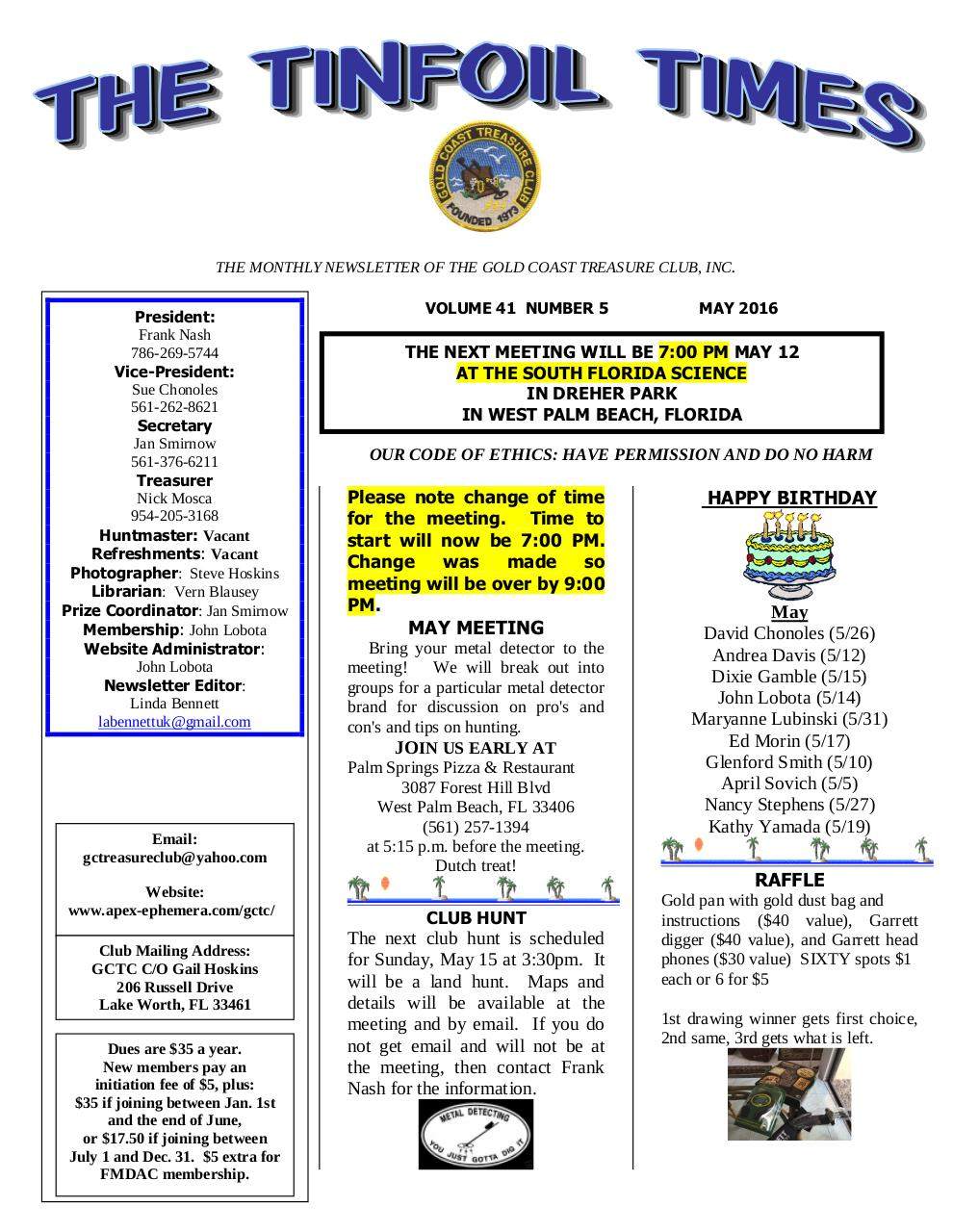 Preview of PDF document gctc-may-2016-newsletter.pdf - Page 1/4