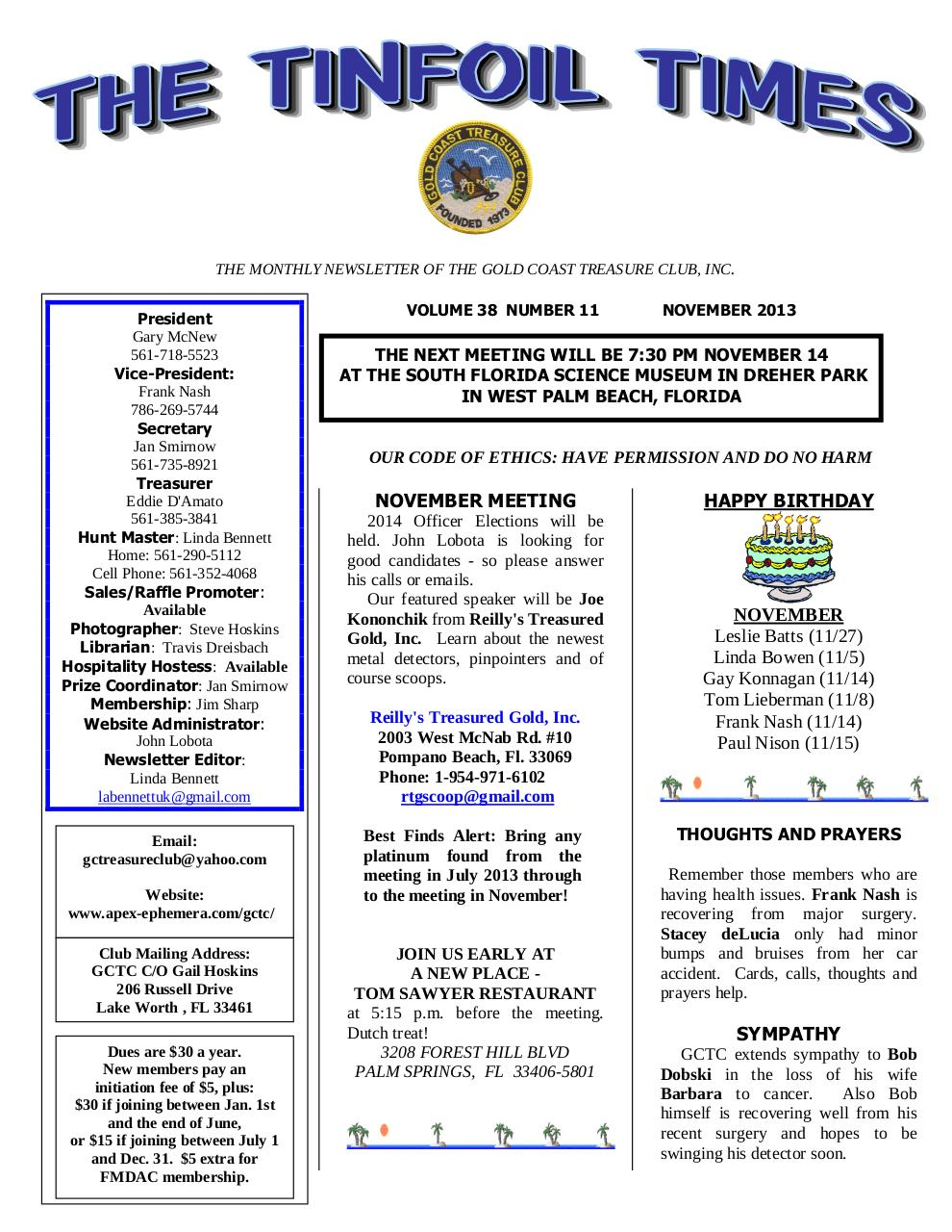 Preview of PDF document gctc-november-2013-newsletter.pdf - Page 1/6