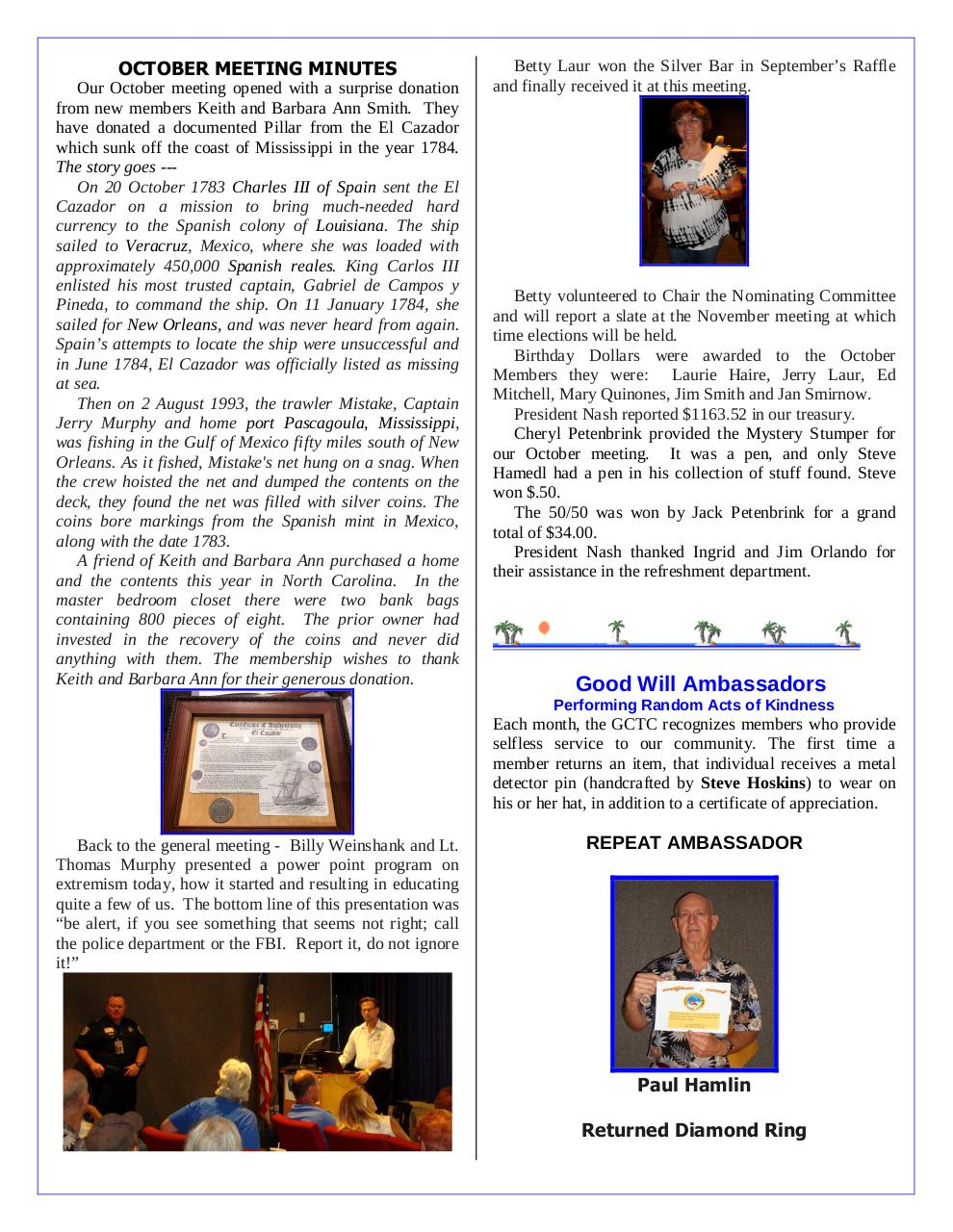 Document preview GCTC November 2016 Newsletter.pdf - page 3/4
