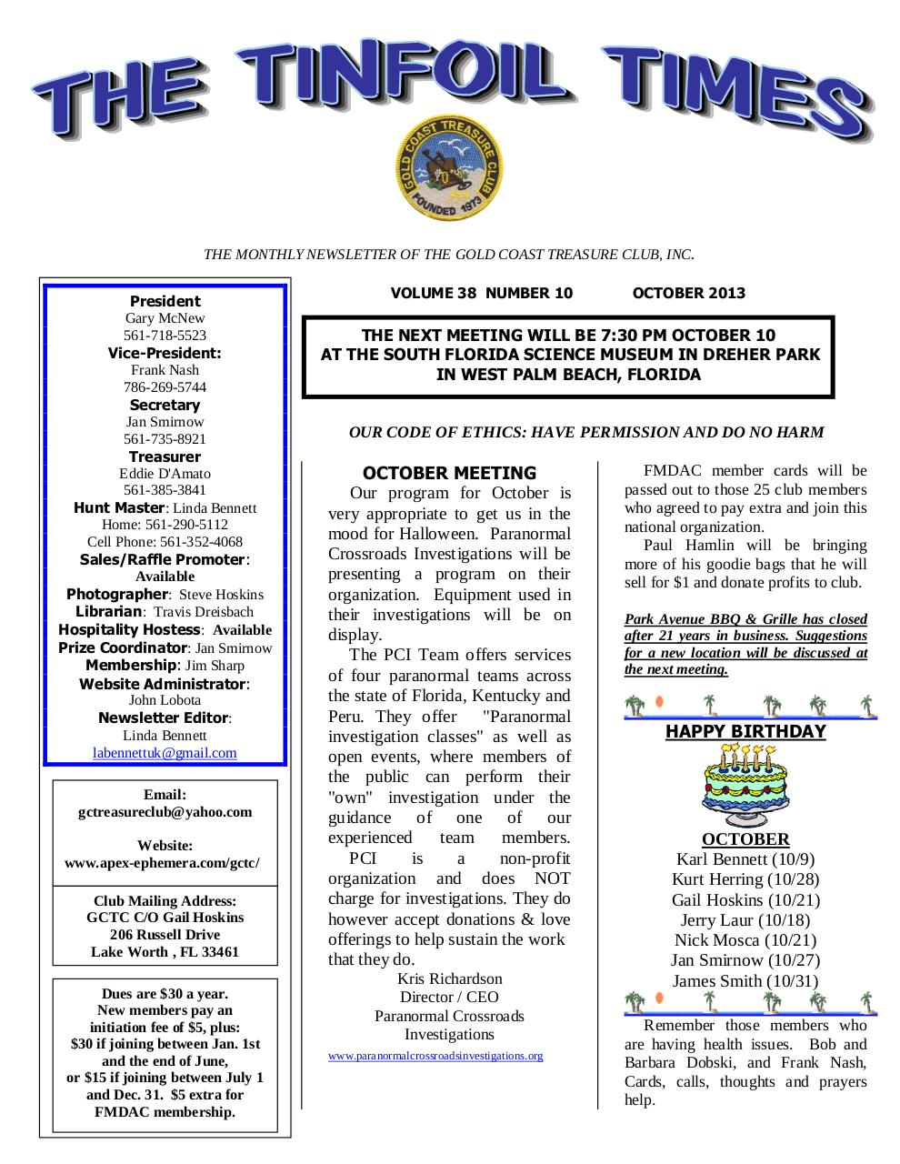 Preview of PDF document gctc-october-newsletter.pdf - Page 1/4
