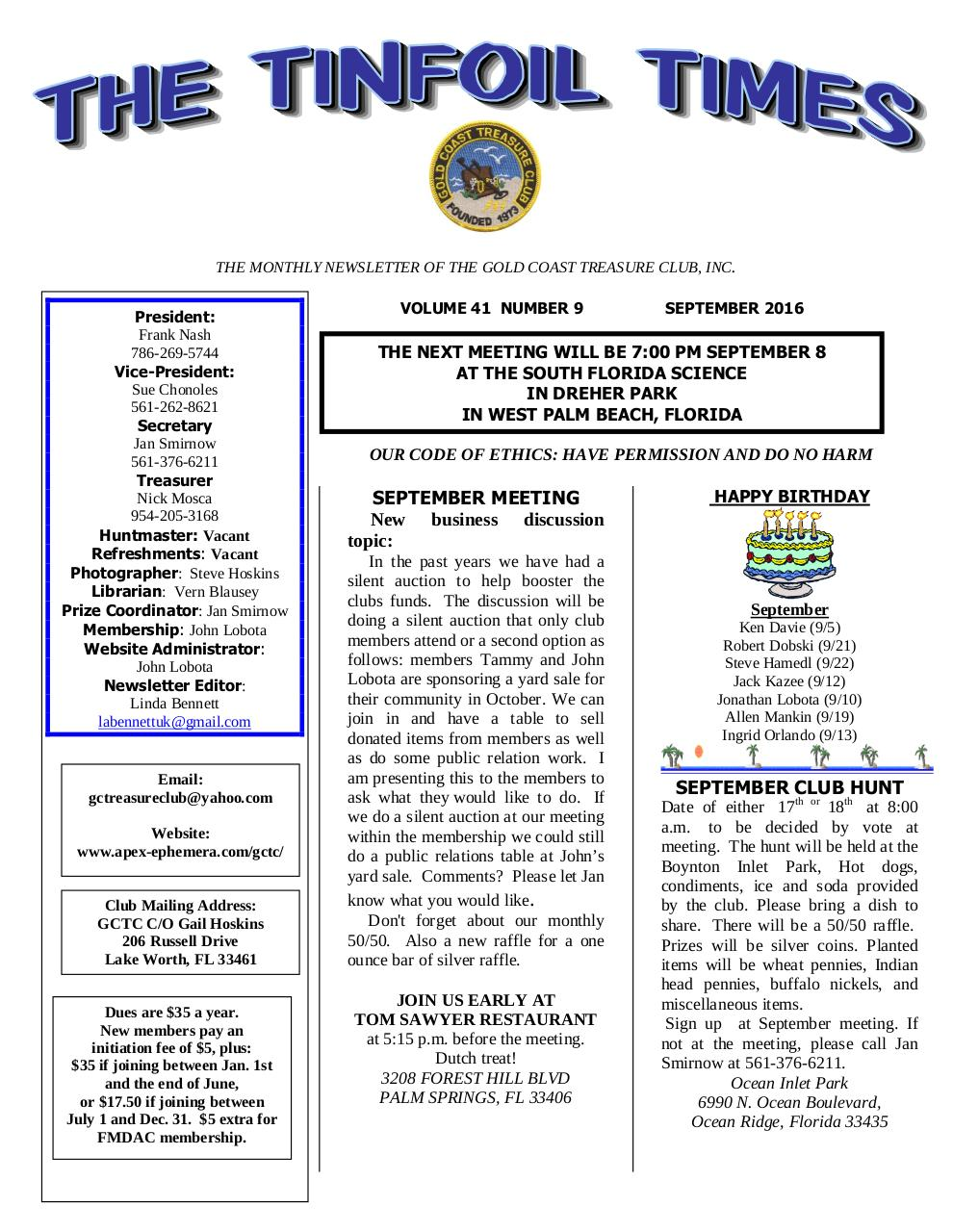 Preview of PDF document gctc-sept-2016-newsletter.pdf - Page 1/6