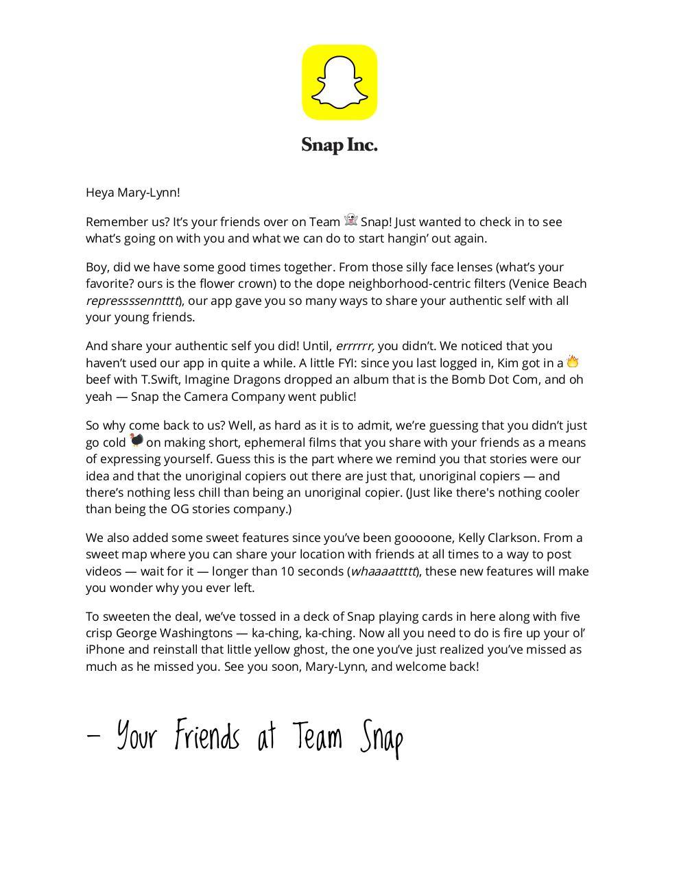 snap letter - PDF Archive