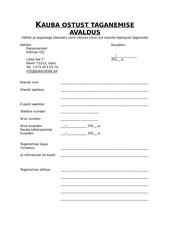 PDF Document kauba ostust taganemise avaldus pakkemeister