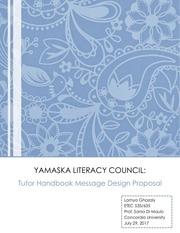 ylc tutor handbook message design proposal