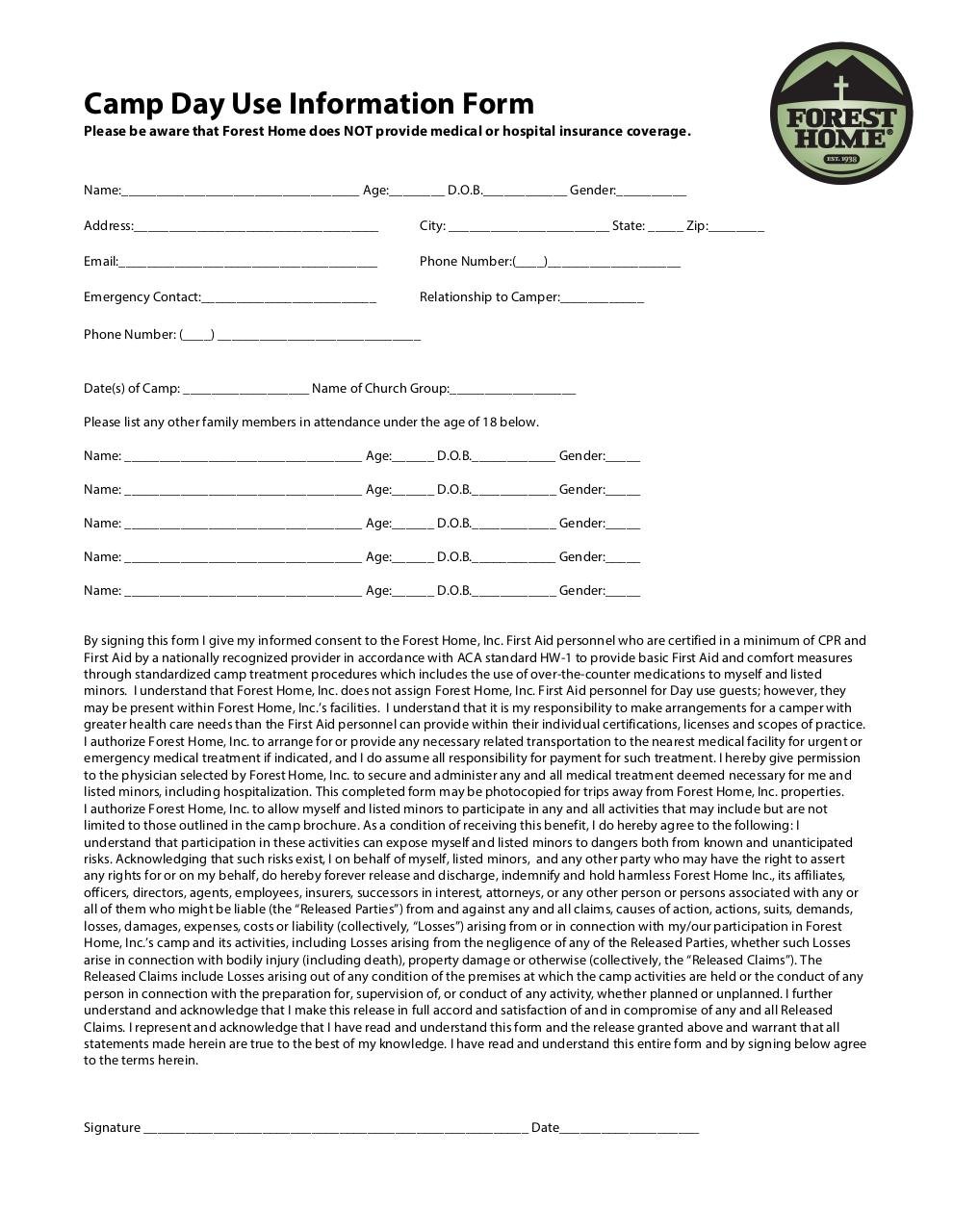 Document preview Forest Home Waiver.pdf - page 1/1