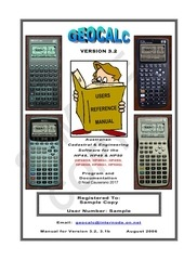 geocalc users reference manual sample copy