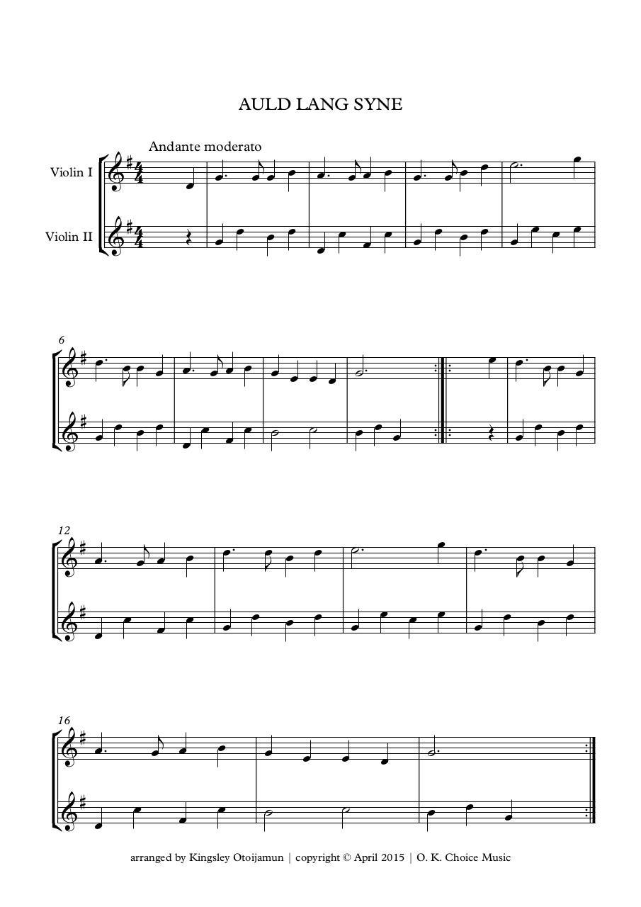Document preview Auld Lang Syne for strings.pdf - page 1/1