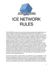 ice network official rules