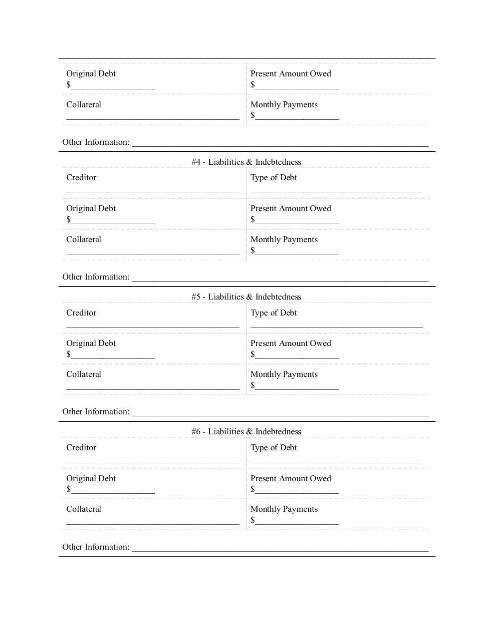 Document preview Loan Application.pdf - page 3/4