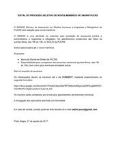 PDF Document edital do processo seletivo de novos membros do sadhir pucrs