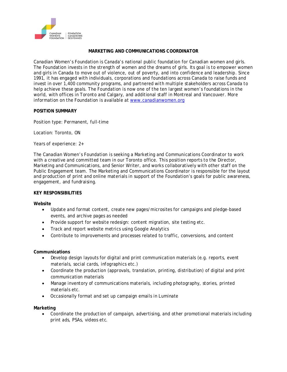 Marketing and Communications Coordinator.pdf - page 1/2