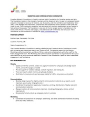 PDF Document marketing and communications coordinator