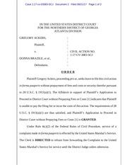 ackers granted civil case