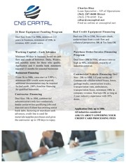 cns capital construction equipment