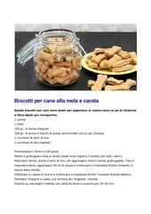 ricette biscotti cane