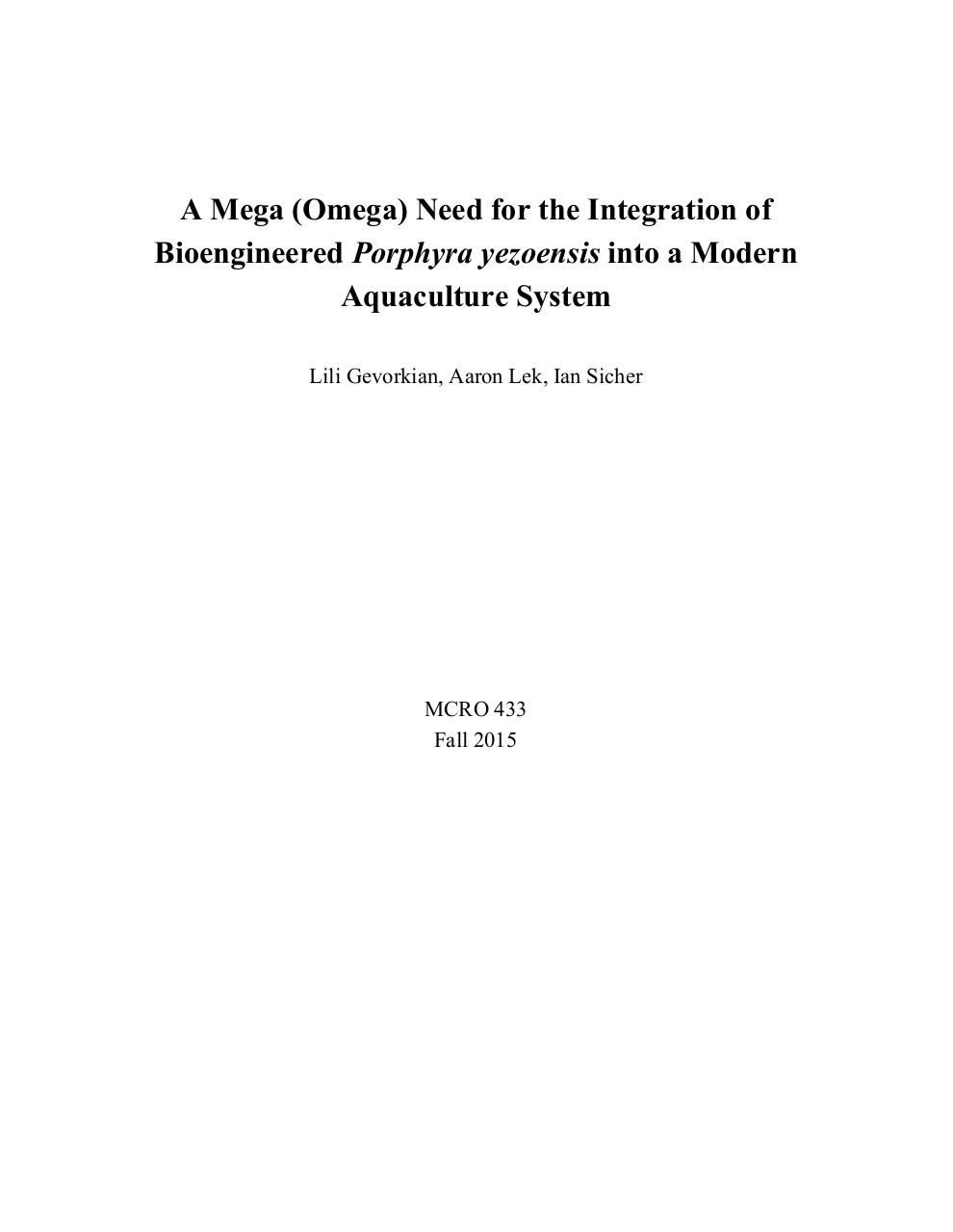 A Need for the Integration of Bioengineered ​Algae.pdf - page 1/18