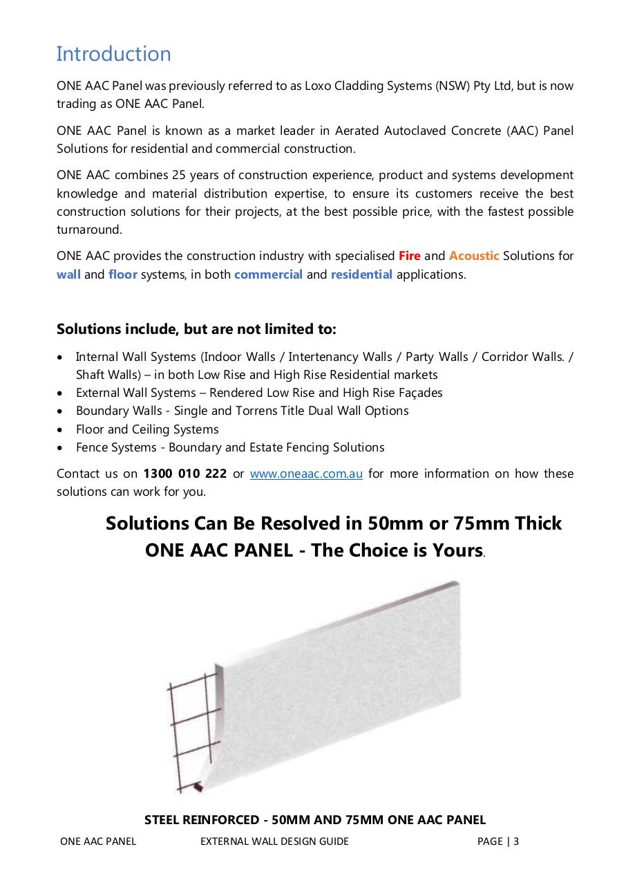 ONEAAC-PANEL-EXTERNAL-WALL-SYSTEM-DESIGN-GUIDE.pdf - page 3/58