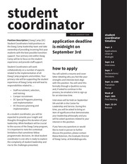 student coordinator requirements