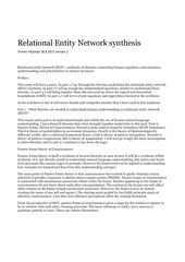 relational entity network synthesis