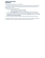 PDF Document terms and conditions