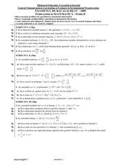 variante matematica mt1 bac 2009