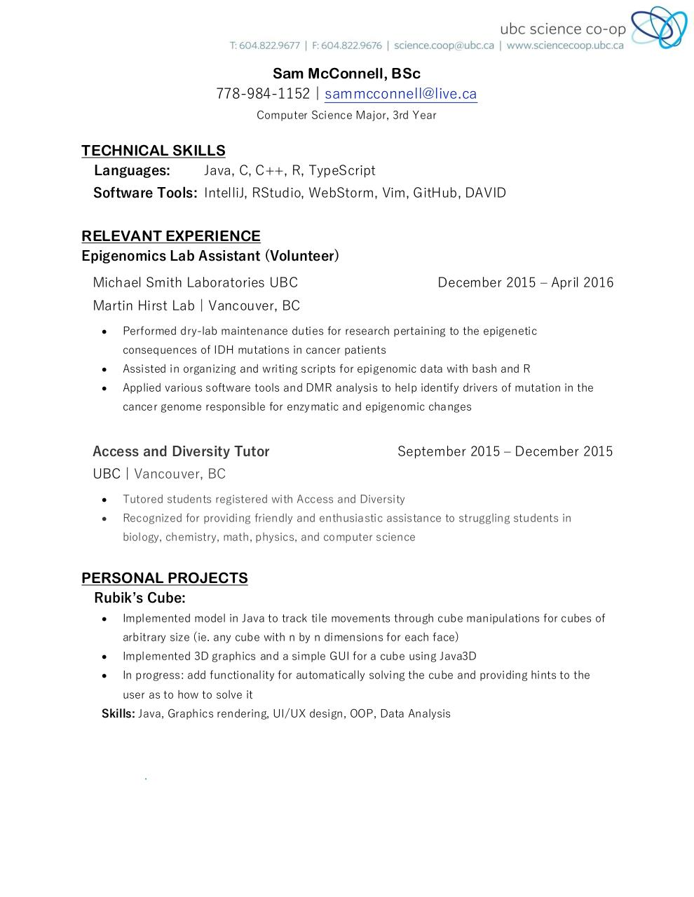 Document preview SamMcConnell_Resume.pdf - page 1/2